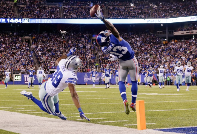 AP APTOPIX COWBOYS GIANTS FOOTBALL S FBN USA NJ