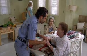 """My fingers hurt."" ""Well now your back's gonna hurt, cuz you just pulled landscaping duty."""